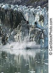 Glacier Calving, Glacier Bay National Park, Alaska
