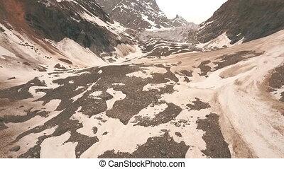 Glacier Chalaadi in Svaneti. Georgia