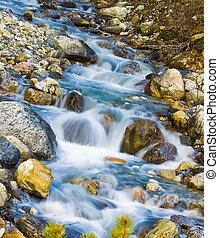 Glacier Creek Flowing Water