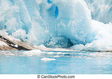glacier,  del,  tierra,  fuego