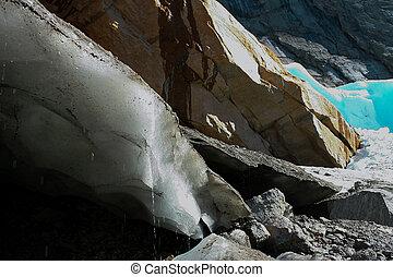 Glacier edge in Norway