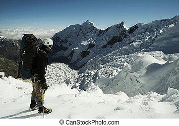 glacier, grimpeur