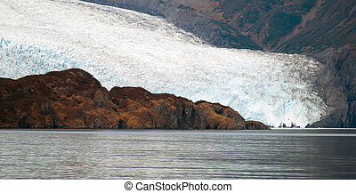 Glacier Ice Water Surface Marine Landscape Aquatic...