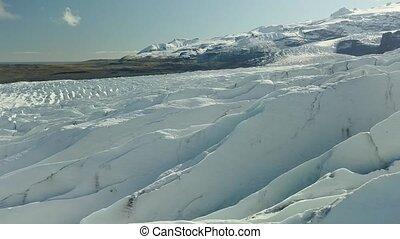 Glacier in Iceland - Aerial glacier drone footage,...
