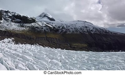 Glacier in Iceland - Glacier Svinafellsjokul in Iceland,...