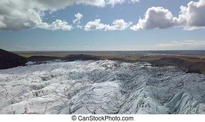 Glacier in Iceland - Iceland Glacier Svinafellsjokul in...