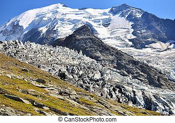 Glacier in mountains