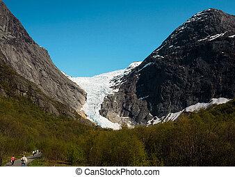 Glacier in summer, Norway