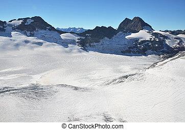 Glacier in the Swiss Alps