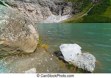 glacier lake in norway