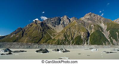 glacier lake panorama
