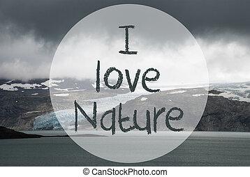 Glacier, Lake, Text I Love Nature, Norway Nature - English ...