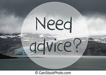 Glacier, Lake, Text Need Advice - English Text Need Advice. ...