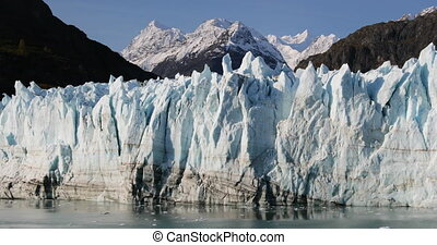 Glacier melting - Global warming and climate change concept