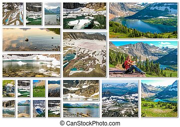 Glacier Montana collage - Glacier collage of several...