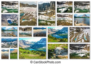 Glacier National Park collage - Glacier collage of several...