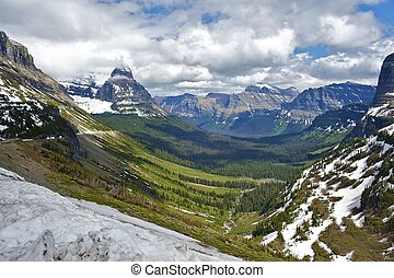 Glacier National Park in Montana USA. Beautiful Valley. ...