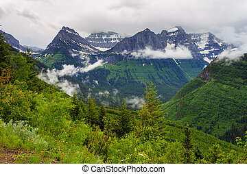 Glacier National Park Peak.