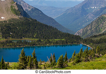 Glacier National Park,Montana - Hidden Lake in Glacier...