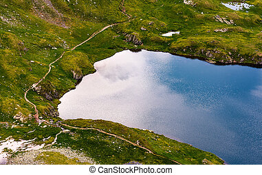 glacier on a summer day. lovely nature scenery view from...