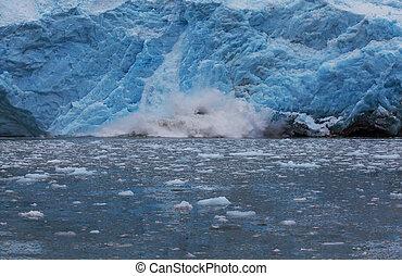 Glacier on Alaska - Iceberg on Alaska