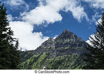 Glacier Park peak