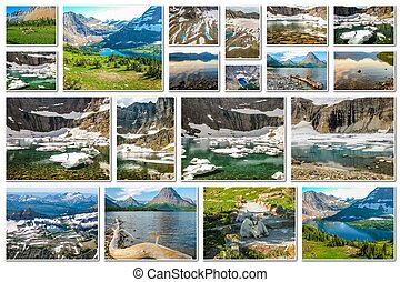 Glacier pictures collage - Glacier collage of several...