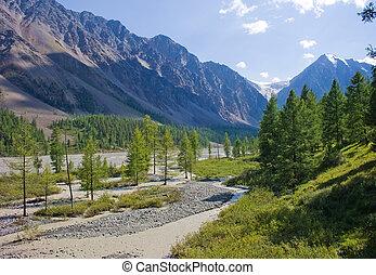 Glacier Small Aktru on Altai