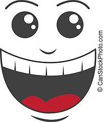 glad ansigt