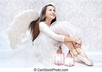 Glad ballet dancer after performarnce - Glad ballet dancer...