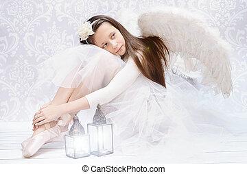 Glad ballet dancer after performarnce