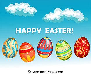 glad påsk, hälsningskort
