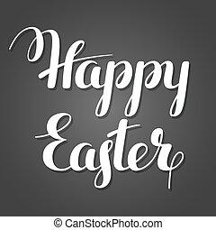 glad påsk, lettering., begrepp, kan, vara, använd, för,...