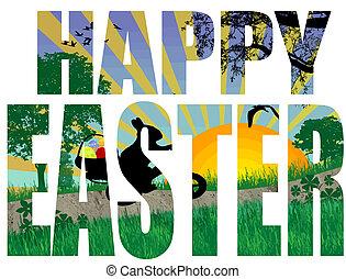 glad påsk, titel