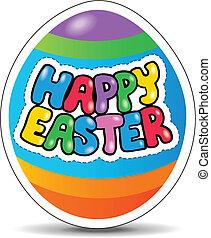 glad påsk, underteckna, tema, avbild, 1