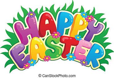glad påsk, underteckna, tema, avbild, 2