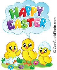 glad påsk, underteckna, tema, avbild, 5