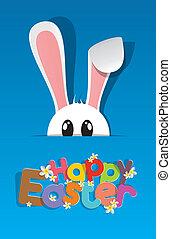 glad påske, hilsen card
