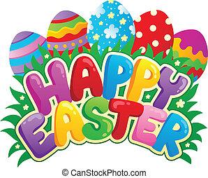 glad påske, tegn, tema, image, 3