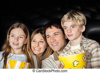 glad släkt, åskådande film, in, film teater