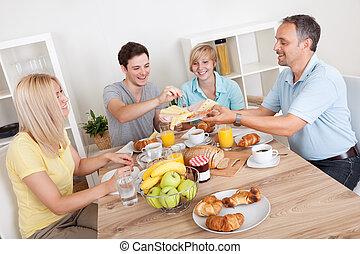 glad släkt, avnjut, frukost