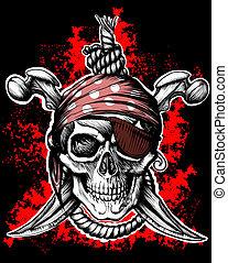 glad uppfattat, sjörövare, symbol