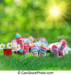 glade, børn spille, udendørs