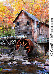 Historic site of glade creek Grist mill in West Virginia