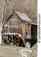 Glade creek Grist mill in Babcock state park West Virginia