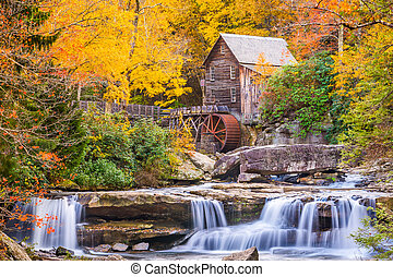 Glade Creek Gristmill in Autumn - Babcock State Park, West ...