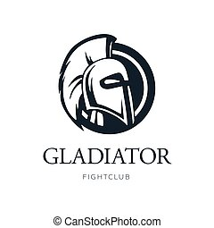 Gladiator Head Logo Design