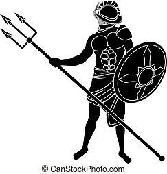 gladiator. vector illustration