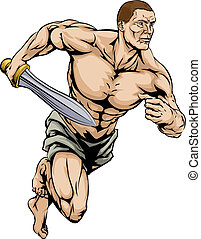 Gladiator warrior - An illustration of a warrior or...