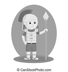 Gladiator with spear vector illustration design